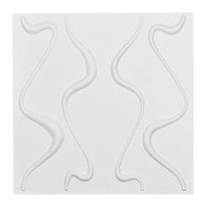 "Versailles EnduraWall Decorative 3D Wall Panel, White, 19 5/8""x19 5/8"""