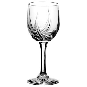 Monika Aurora Lead Crystal Wine Glasses, Small, Set of 6