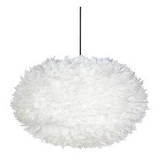 Feather globe pendant light
