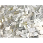 CHOIS - Tiles M03 Mother Of Pearl Shell Backsplash Freshwater I-Shape Rectangle Decor - Note: If you have any concerns that these tiles will not be suitable for your particular application,please buy a sample first to make sure.