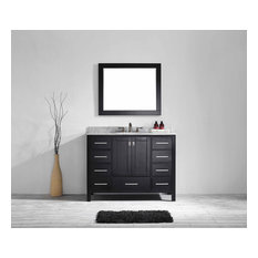 "Aberdeen 42"" Transitional Espresso Bathroom Vanity, Espresso"