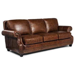 Liam Studios Blair Leather Sofa - Transitional - Sofas - by World ...