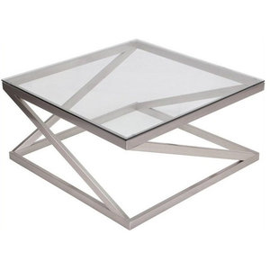 Astonishing Louisa Coffee Table In Stainless Steel And Glass Hexagon Andrewgaddart Wooden Chair Designs For Living Room Andrewgaddartcom