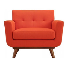 Modway   Engage Upholstered Armchair, Atomic Red   Armchairs And Accent  Chairs