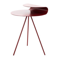 Loop Contemporary Side Table, Red