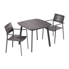 Eiland 3-Piece Dining Table Set, Carbon