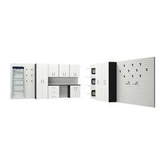 12-Piece Deluxe Cabinet Set Garage Organization System, White