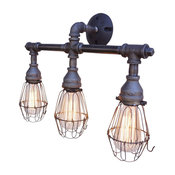 Nelson 3-Light Fixture With Wire Cages
