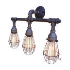 Nelson Vanity 3-Light Fixture With Wire Cages
