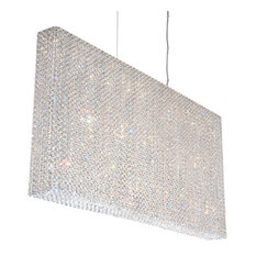 Refrax 23-Light Island Pendant, Clear Crystals