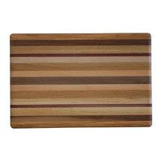 Amish Made Exotic Wood Rectangle Cutting Board, 2 Sizes, Large