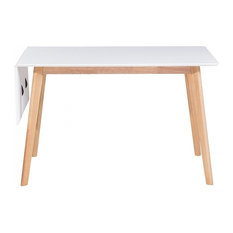 Medio White Extendable Dining Table