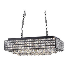 50 most popular black chandeliers for 2018 houzz the first lighting elba 8 light crystal black finish chandelier chandeliers aloadofball Image collections