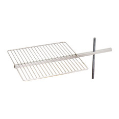 Fluxus Flame Outdoor Fire Pit, Grill Grate and Bracket