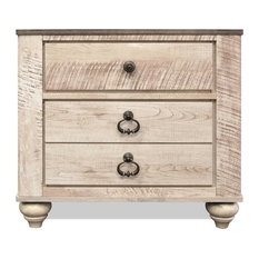 CTC Furniture Inc.   Brayden White Washed 2 Drawer Nightstand   Nightstands  And Bedside Tables