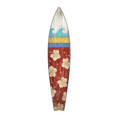 Suzanne Nicoll Surfboard Wood Panel Red Sign