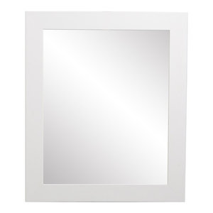 Pure White Framed Vanity Wall Mirror 27''x 32''