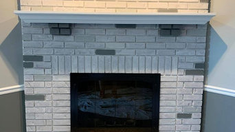 White-wash fireplace