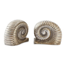 Nickel Fossil Bookends, Set of 2