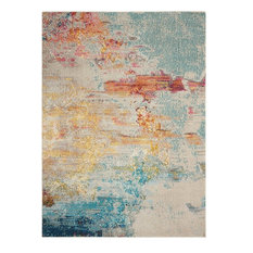 "Nourison Celestial Contemporary Area Rug, Multicolor, 6'7""x9'7"""