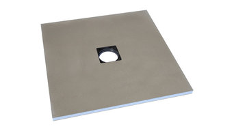 Orbry Wet Room Shower Tray - Centre Drain (800 x 800 x 30mm)