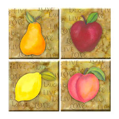 Orchard Peel and Stick Tiles, 4-Piece Set