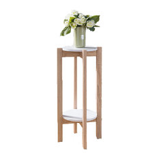 Smart Home Plant Stand in Weathered White