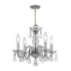 Crystorama Lighting 1064-CH-CL-MWP Traditional Crystal Mini Chandelier