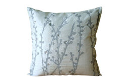 """Wholesale White Pillow Covers 20""""x20"""" Bed Lounge Pillow, Silk, Crystal Willow"""