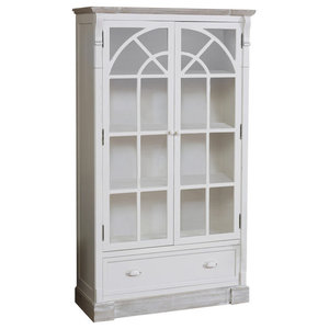 Cream Glazed Display Cabinet - Lyon Range