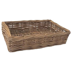 Double Steamed Wicker Storage Tray, Small