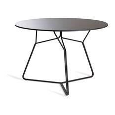 OASIQ Serac 105 Dining Table, Frame: Anthracite, Top: Black Hpl