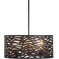 Cypress 3-Light Outdoor Pendant, Natural