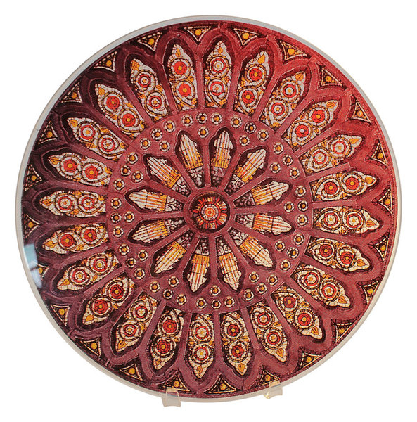 13\  Stained Glass Decorative Plate  sc 1 st  Houzz & 13\