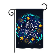 """New Year Vibes Winter Double-Sided Flag, 13""""x18.5"""""""