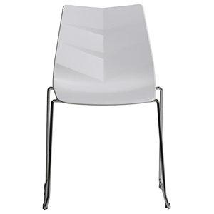 PVC Arrow Design Chair, White