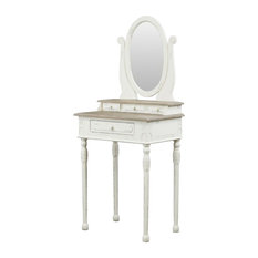 Anjou French Accent Dressing Table With Mirror