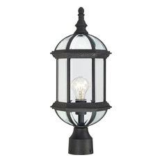 """Boxwood 1 Light - 19"""" Outdoor Post With Clear Beveled Glass"""