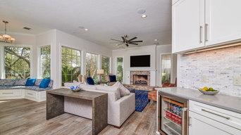 Shavano Estates White and Gray Kitchen & Living