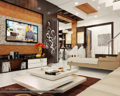 LUXURY APARTMENT INTERIOR DESIGN 3D RENDERING BY HS3D INDIA
