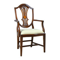 Inlaid Shield Back Arm Chairs, Set of 2