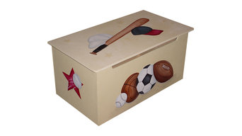 CUSTOM Childrens toy box - Baseball, Football, Basketball and Hockey