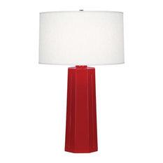 "Robert Abbey Mason TL Mason 26"" Column Table Lamp with a Linen Shade"