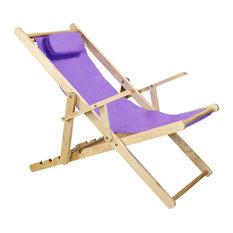 Sling Chair, Purple Canvas