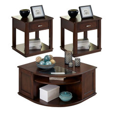 Liberty Furniture Wallace 3-Piece Occassional Table Set, Dark Toffee Finish