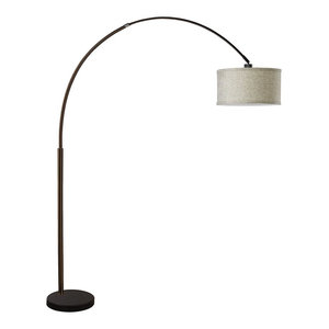 f4845a7cdfa Major-Q Arching Floor Lamp With Extra Large Shade and Marble Base