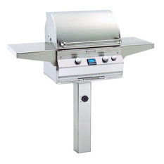 A430s6LANG6 Analog Style In-Ground Post Mount Grill, Natural Gas