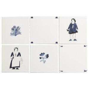 Handmade London Life Tiles : Traditional London by Laura Carlin