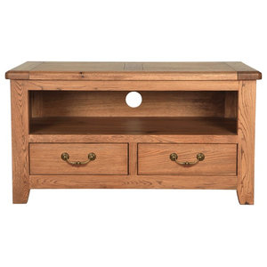 Rustic Manor Solid Oak TV Stand