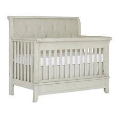 Evolur Signature Amsterdam 5-In-1 Wooden Convertible Crib, Glazed Brush White
